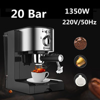 DL KF500 Semi Automatic Coffee Maker 3In1 Cafe Maker Machine Kitchen 1.5L Barista Espresso Machine Milk Steamer