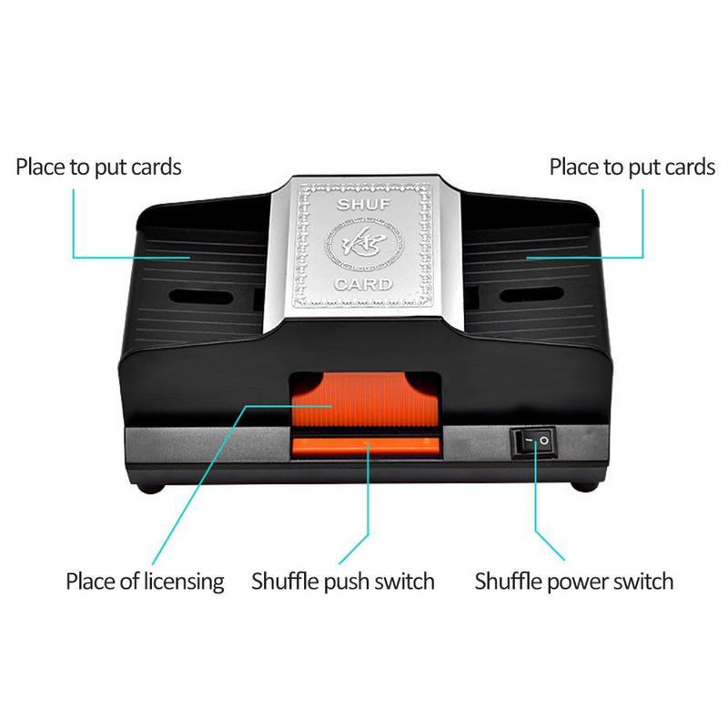 Professionnel Shuffler de Carte 1 2 Plate Formes Automatique À Grande Vitesse En Plastique Machine Brouillante Jeux De Cartes Shuffler - 6