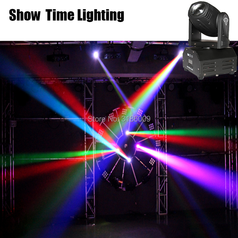 Show Time Mini Led 10W Beam Moving Head 10W Spot Wash RGBW 4 In 1 Stage Effect DMX 512 Control KTV DJ Party Lite Home Entertain