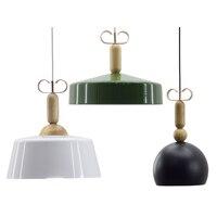 SETTEMBER Nordic Chandelier Modern Minimalist Restaurant Solid Wood Macaron Aluminum Lamp