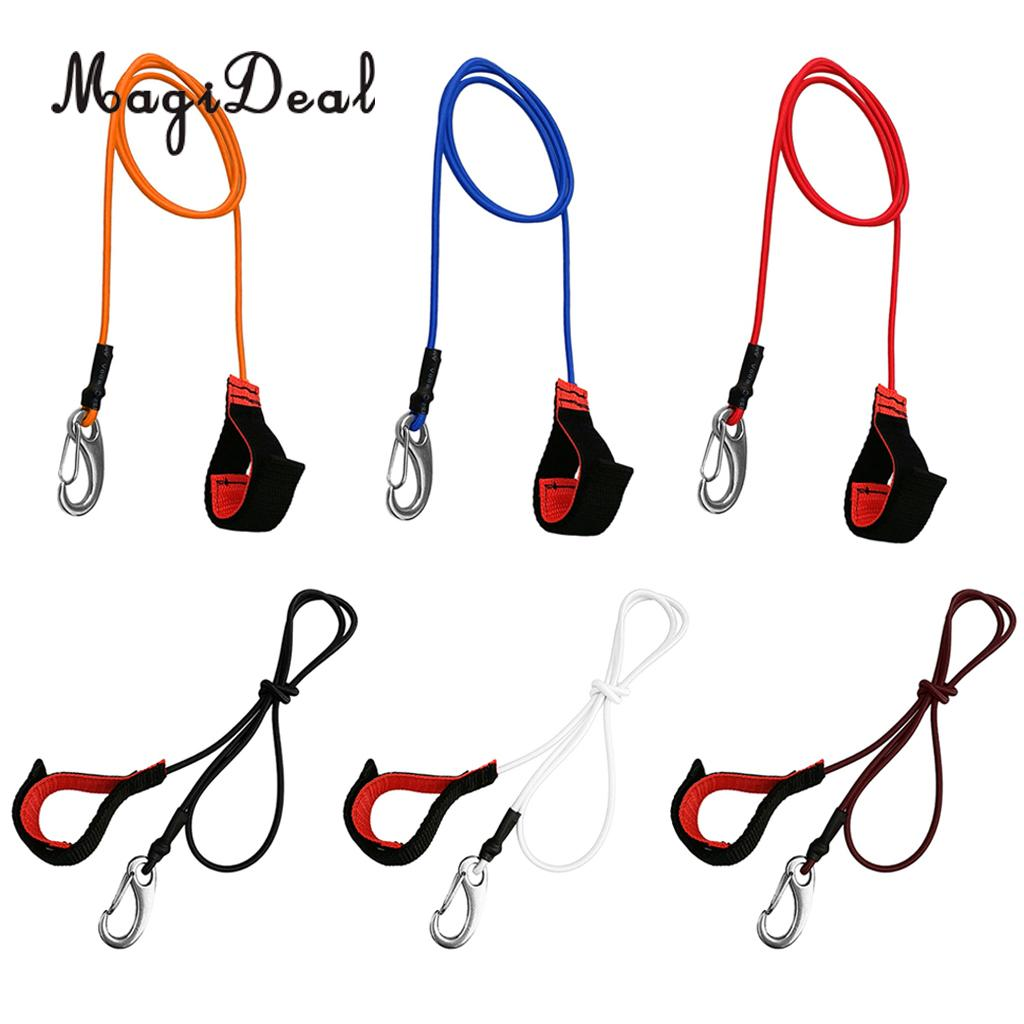 1x Kayak Canoe Paddle Leash Fishing Rod Holder Tether Shock Cord Accessories