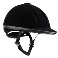 Vented Western Riding Helmet Safety Low Profile Equestrian Headwear Black L