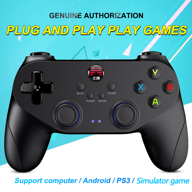 2018 profesional Gamepad para PlayStation3 PC Android inalámbrico/con cable controlador de juego con Joystick para Windows de vapor PS3 Pubg