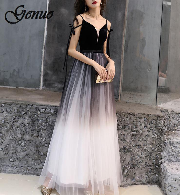 Dress 2019 Vestido De Festa Tulle A Line Party Gowns Sexy Long Dresses