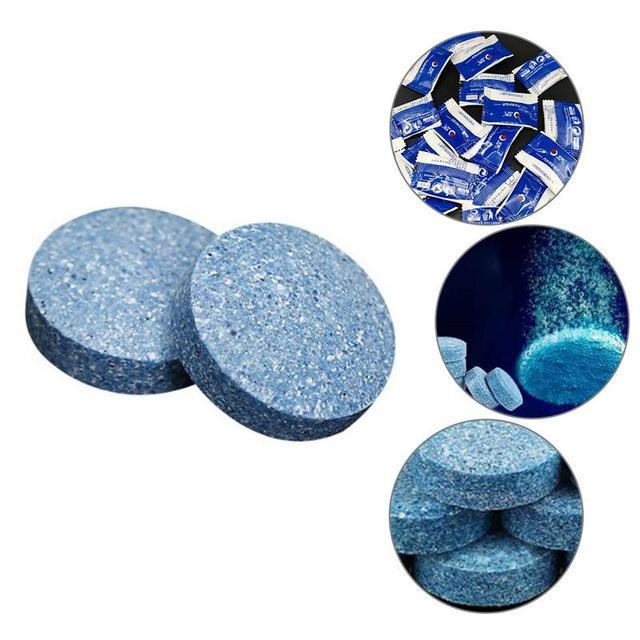 10ピース/セット凝縮発泡タブレット水固体濃縮スーパーオートガラス従来クリーナーカーアクセサリーチューブ