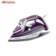 Утюг Ariete 6244 Steam Iron цвет белый с пурпурным, нержавеющая подошва, большой резервуар для воды, регулировка интенсивности подачи пара, вертикальное отпаривание