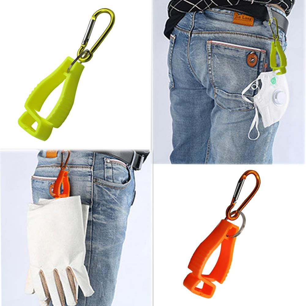Anti-lost Plastic Clamp Clip Hook Safety Work Gloves Clip Multi-Function Outdoor Colorful Fixed Clip For Working Safety Gloves