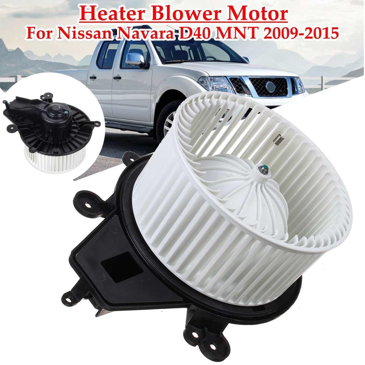 RHD voiture ventilateur ventilateur électronique chauffage ventilateur moteur pour Nissan Navara D40 MNT 2009 2010 2011 2012 2013 2014 2015 27226-JS60B