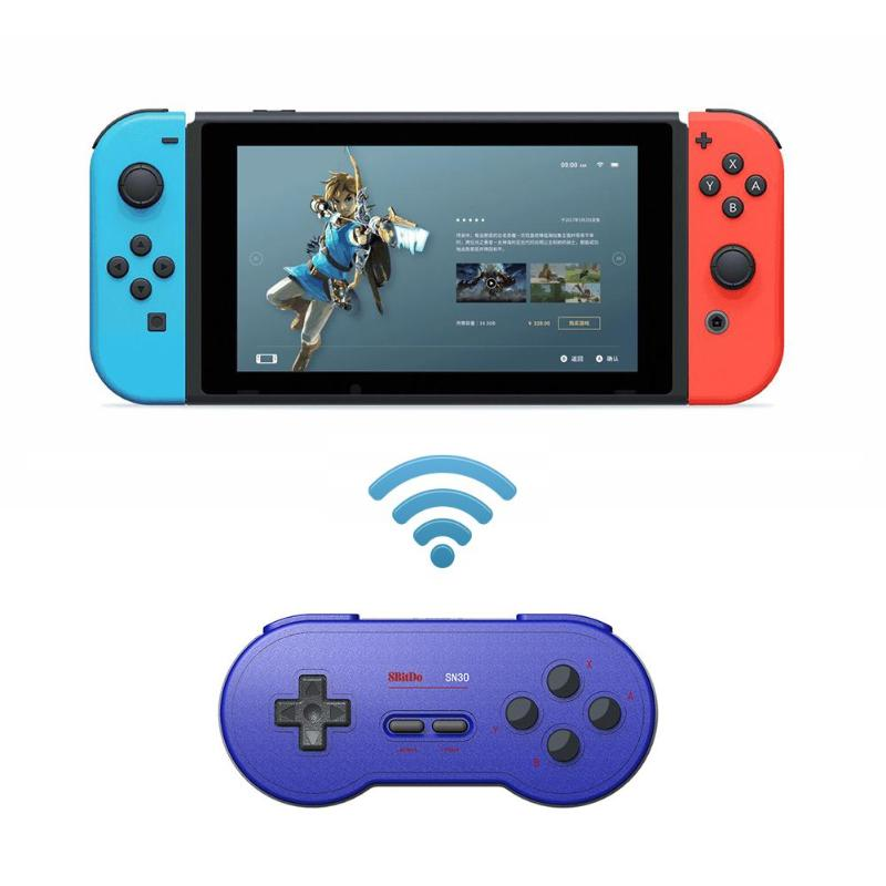 SN30 Retro Wireless Bluetooth Joystick Gamepad Controller for Nintend Switch Game Console Android PC Phone Mac OS charging: 2h