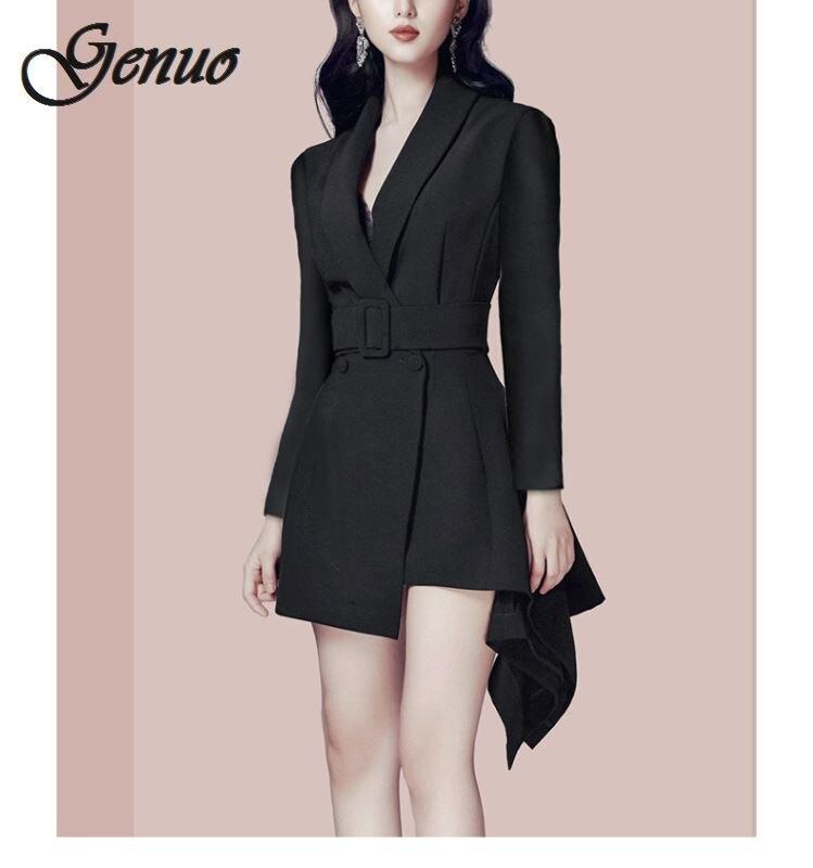 Autumn New Pattern Small Suit Woman Korean Long Sleeve Thin All match Loose Coat female balazer