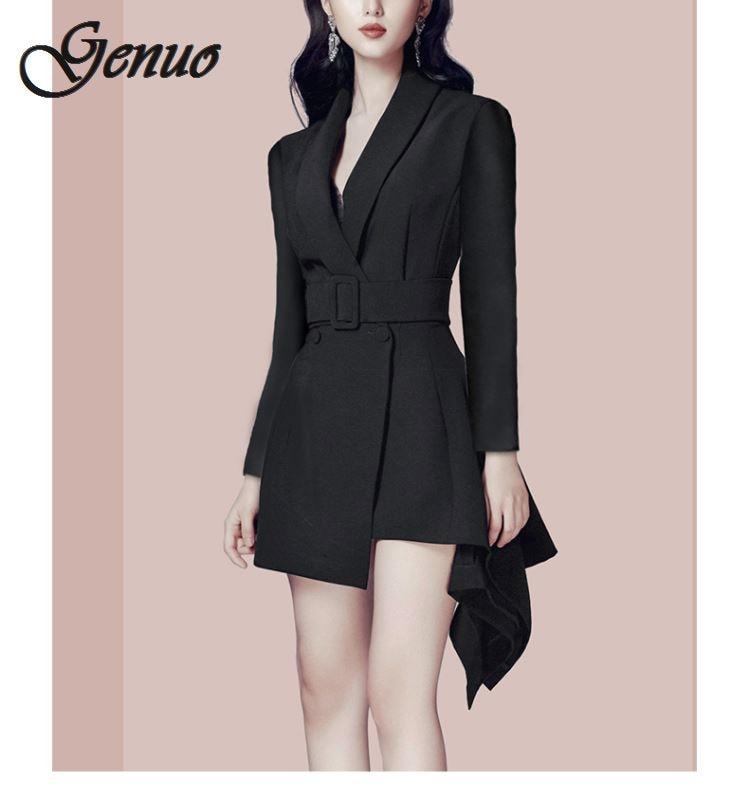Autumn New Pattern Small Suit Woman Korean Long Sleeve Thin All-match Loose Coat Female Balazer