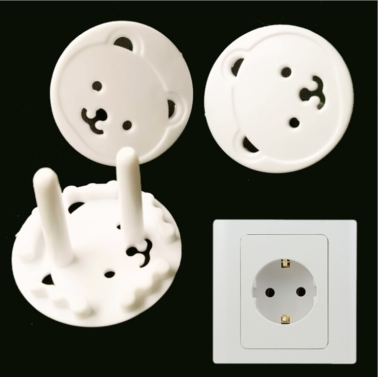 5pcs /lot Hot Selling   EU Power Socket Electrical Outlet Baby Safety Guard Protection Anti Electric Shock Plugs Protector Cover