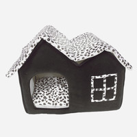 Pet House Luxury High end Removable Double Dog Room Brown Dog Cat Bed Dog Cushion Double Pet House Soft Warm House With Mat