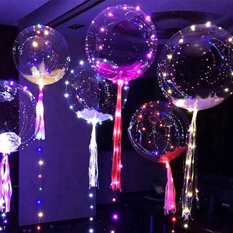 3 m 30LED 18 Polegada Transparente Bola Bolha Luz Brilhante Bola Decorativa Para Decorações Do Casamento Do Feriado Bar KTV Luzes Interior
