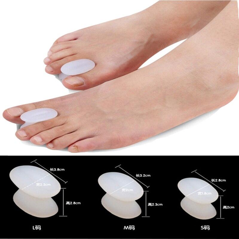 1Pair Gel Toe Separator Foot Care Tool Silicone Big Toe Bunion Straightener Valgus Hallux Bunion Protector Corrector Alignment 3