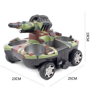Kit Modello Militare   Serbatoio RC Anfibio Radio Control Rc Kit Terra Acqua Robot Serbatoio Di Controllo Remoto Giocattolo Per I Ragazzi Modello Rc Militare Di Plastica Battaglia Giocattolo
