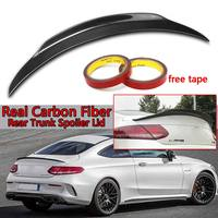 Real Carbon Fiber Car Trunk Spoiler Wing Lid For Mercedes For Benz W205 C205 2Dr For Coupe C200 C300 C63 2015 2017 Wing Spoiler