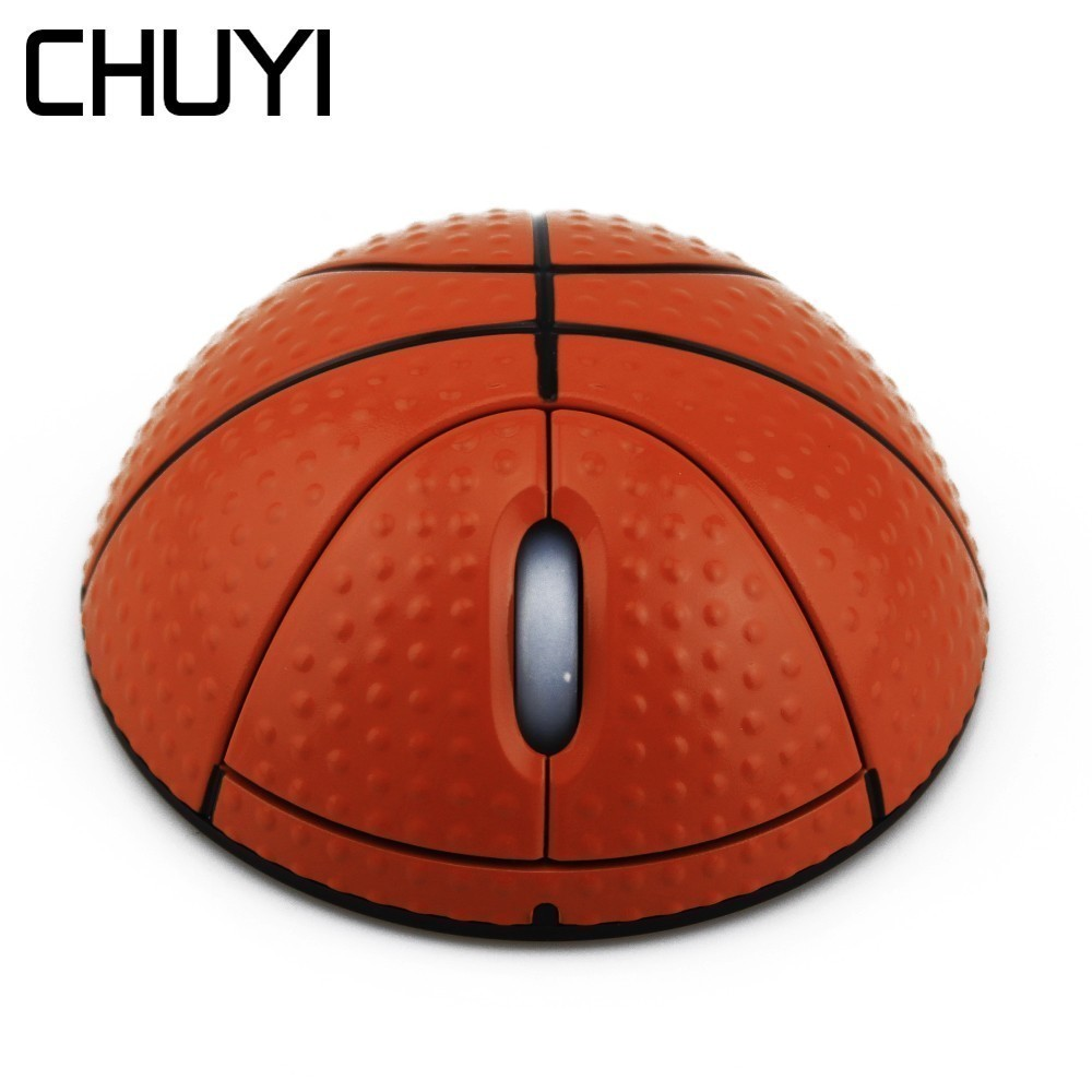 Chuyi Wireless Mouse Basketball Shape Usb Optical Mause For Computer Pc Laptop Desktop Mini 3d Mice With Mouse Pad Kit For Gift Suitable For Men And Women Of All Ages In All Seasons