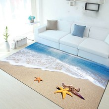 Multicolour 6mm ultra-thin 3D carpet Mediterraneanstyle Mat living room coffee table sofa bedroom floor Rug Customize