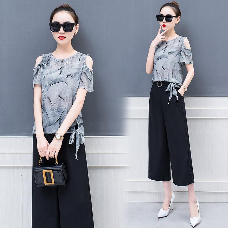 Wide Legged Pants Suit font b Women S b font font b Clothing b font Set