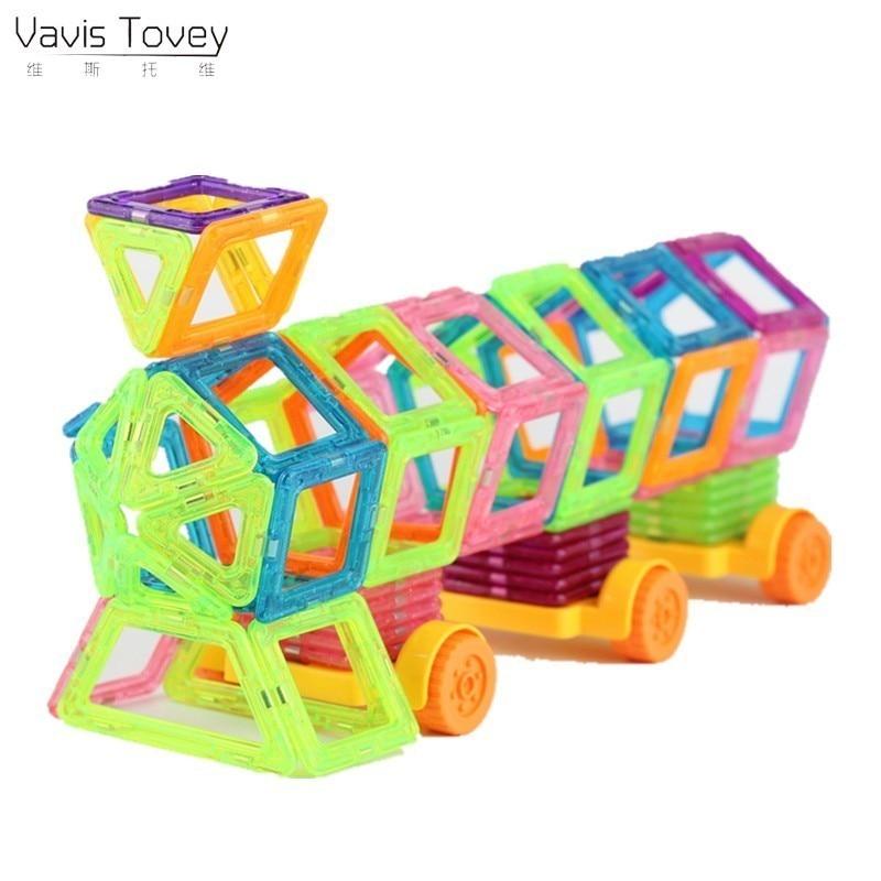 Vavis Tovey 102Pcs Mini Designer Plastic Model & Magnetic Building Blocks Toys DIY Children's Birthday Gift With Box