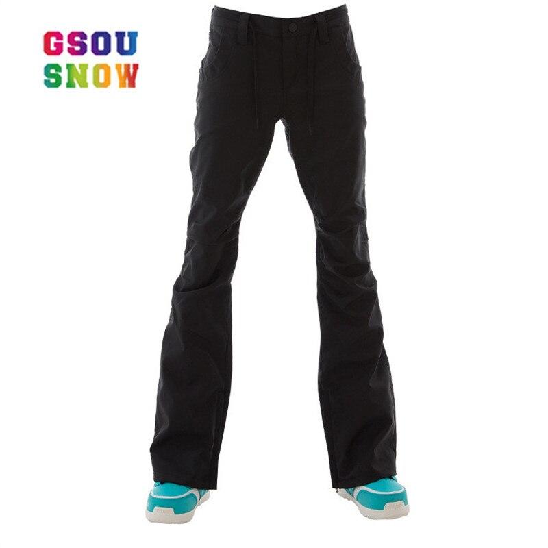 GSOU pantalon de Ski d'hiver neige femme pantalon de neige imperméable pantalon de Ski femme pantalon de Ski d'hiver de haute qualité pantalon de Snowboard femme