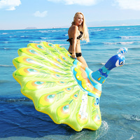 Giant Inflatable Peacock Pool Float Swimming Ring Island Beach Mattress Water Bed Party Tools Fun Toys For Kids Children Adult