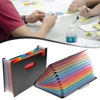 12 карманов расширяющиеся файлы папка многоцветный аккордеон Портативный A4 файловый менеджер Бизнес Офис Студенческая пластиковая папка О...