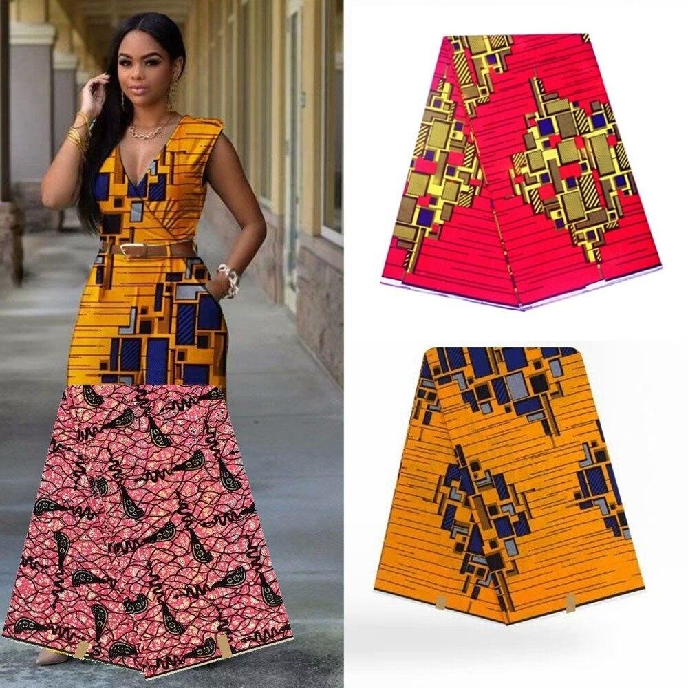 Image 2 - Verdadera cera nigeriana verdadera telas de encaje ASO EBI  africano algodón estampado verdadera cera de Ankara Pagne Africana cera  verdaderaTela