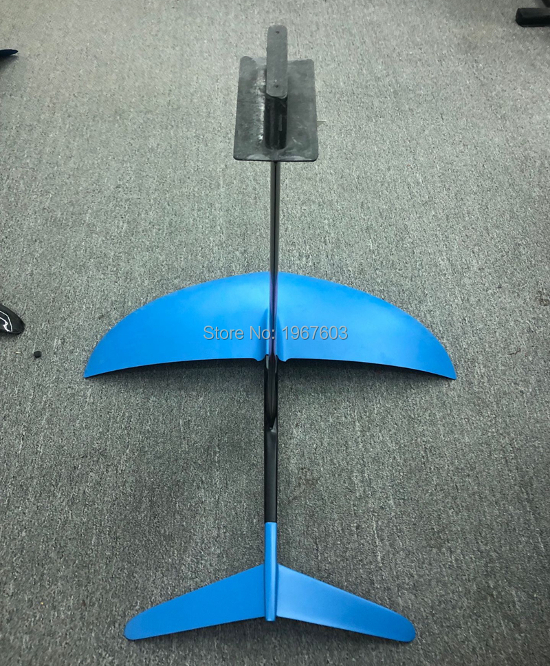 Pure Carbon Fiber Hydrofoil Foils for SUP Largest Thicker Wings Surf Foil L