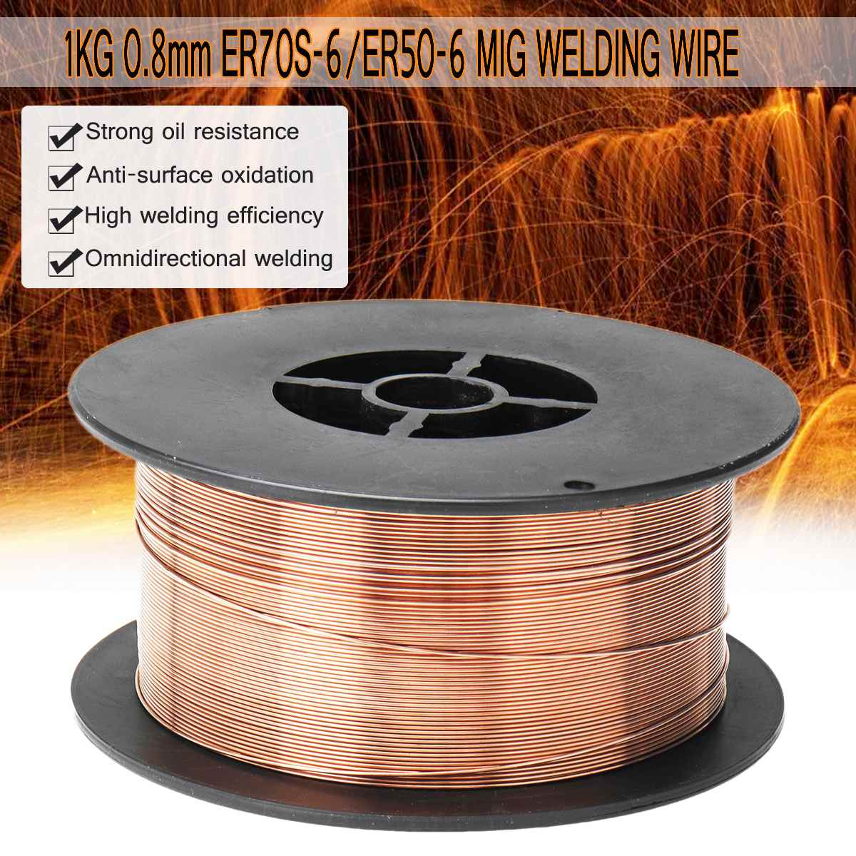 MIG Solid Welding Wire ER70S-6 / ER50-6 0.6/0.8/0.9/1.0/1.2mm Mild Steel Gas Shielded Welding Wire