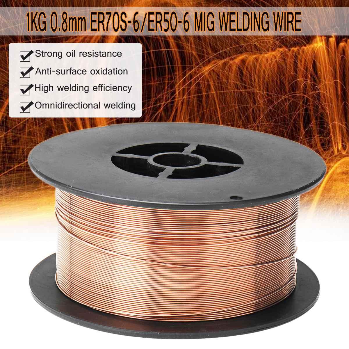 MIG Solid Welding Wire ER70S-6 / ER50-6 0.6/0.8/0.9/1.0/1.2mm Mild Steel Gas Shielded Welding Wire