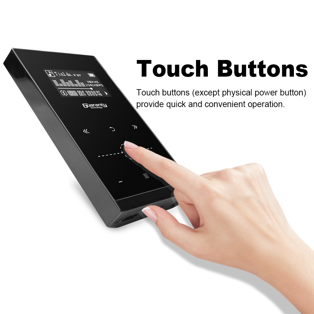 16 Gb 1,3 Zoll Bildschirm Touch-taste Hifi Metall Musik Player Mp3 Player Ape Flac Wav Loseless Audio Player W /tf-karte Slot Modern Und Elegant In Mode