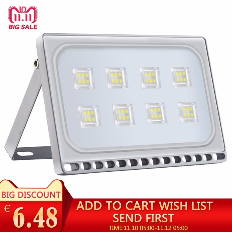 LED Flood Light 10W 20W 30W 50W Floodlight LED Spotlight Outdoor Lighting Projector Reflector Wall Lamp AC 220V Garden Square