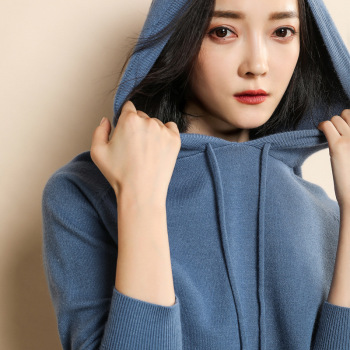 Recruitment Agent ~ 2019 Autumn And Winter New Style Cashmere Sweater Female Little Jumpers Loose-Fit Hooded