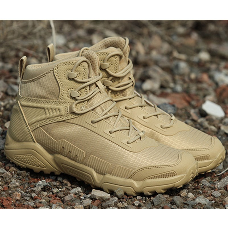 Field Combat Training Military Tactical Boots Outdoor Travel Climbing Shock Absorption Lightweight Breathable Hiking Sport ShoesField Combat Training Military Tactical Boots Outdoor Travel Climbing Shock Absorption Lightweight Breathable Hiking Sport Shoes