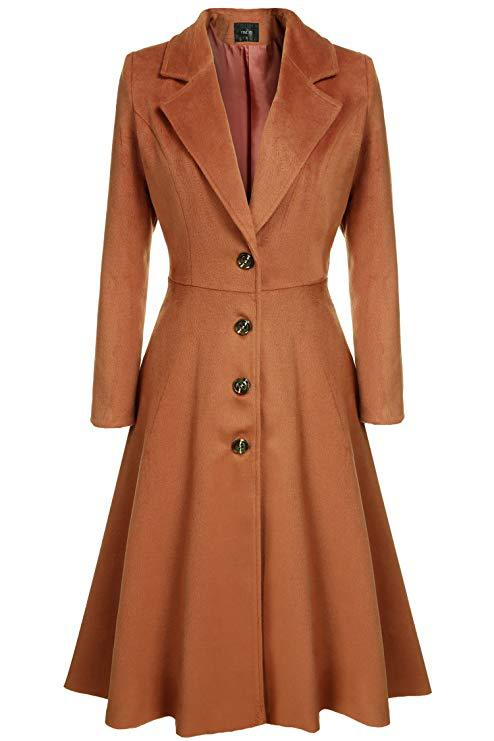 2019 New Sprinf Autumn Solid Swing Office Lady   Trench   Coats Elegant Women Long Coat Vintage Lady High Waist A-Line Overcoats