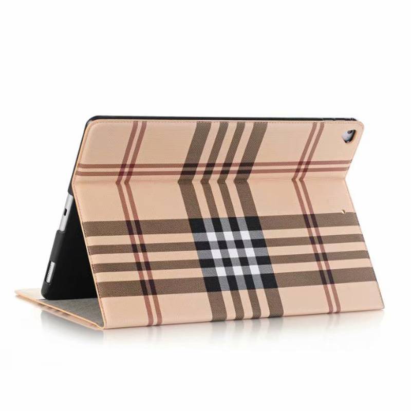 Grid Plaid Skin Luxury Tablet Case For Ipad Pro 12.9 Inch 2015 2017 Smart Cover Wallet PU Leather Stand Tablet Book Bag