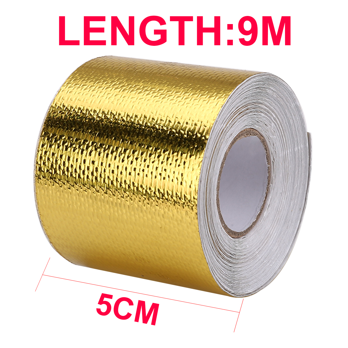 US $9 45 30% OFF Gold Motorcycles Exhaust Header Tape Heat Wrap Oil Pipe  Steam Pipe Insulation Roll Tape Protector Fiberglass 5cm x 9m Mayitr-in