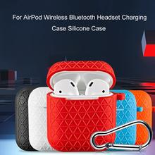 Rondaful High Quality Wireless Bluetooth Headset Case For Airpods Silicone Charging Box Protective Cover