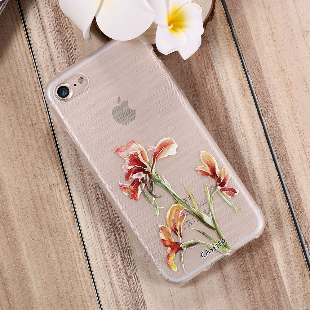 CASEIER Spring Phone Bags For iPhone 6 6 Plus Soft TPU Cases For iPhone 6s 6s Plus 3D Emboss Silicone Lovely Shell Fundas Capa in Fitted Cases from Cellphones Telecommunications