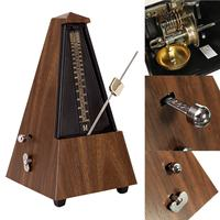 Antique Mechanical Metronome Teak Wood Vintage Style Wooden Color Music Timer for Guitar Piano Violin Zither Musical Instrument
