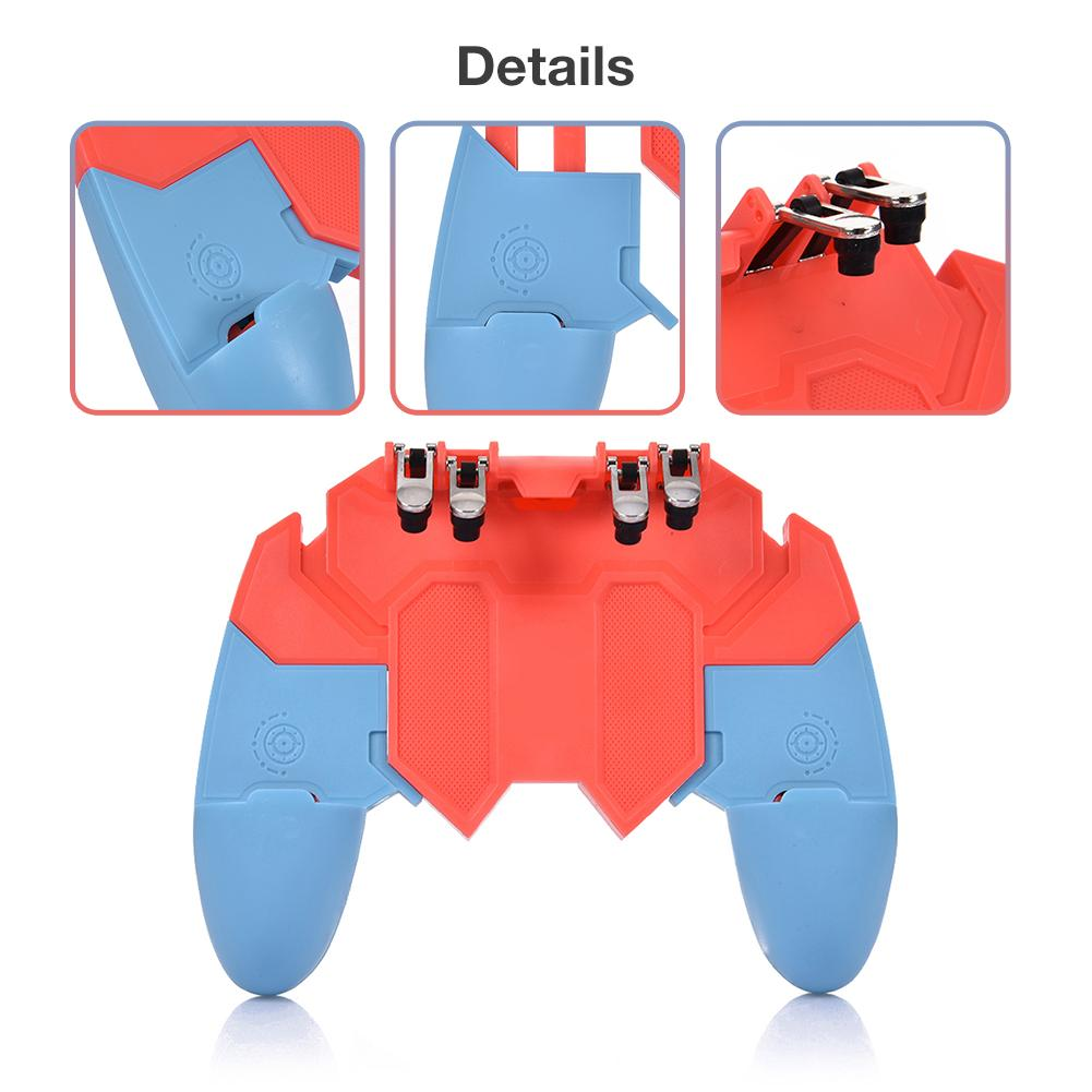Image 4 - Or AK65 PUGB Helper Mobile Phone Handle Mobile Game Controller Six Finger All   In   One Mobile Controller Game Joystick Gamepad-in Gamepads from Consumer Electronics