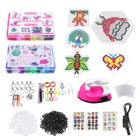 9600pcs/bag 5mm With Iron Fuse Beads Puzzles Hama Beads 48 Colors Craft Peg Board Activity Educational Gift Kid Toy DIY