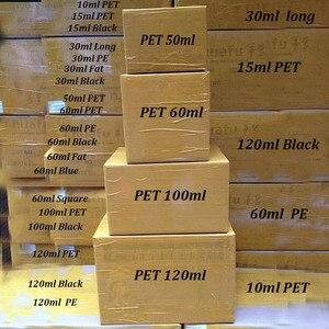 Image 3 - 500 قطعة الحيوانات الأليفة طويلة الدهون 10 مللي 15 مللي 30 مللي 50 مللي 60 مللي 100 مللي 120 مللي إعادة الملء زجاجة Empaty E زجاجة تقطير السوائل ل جيل للأظافر E عصير