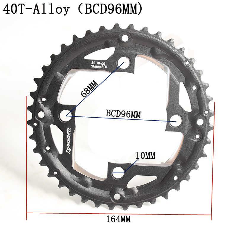 Prowheel 7/8/9 Kecepatan BCD96mm 40T30T Chainwheel BCD64 Mm 22T MTB ROAD Sepeda Crankset Chainwheel Disc Roda Rantai gigi Slice