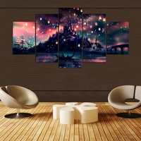 Modular Home Decor Modern Wall Art HD Print Painting Pictures Room Poster Frame 5 Pieces Harry Potter Hogwarts Canvas Painting