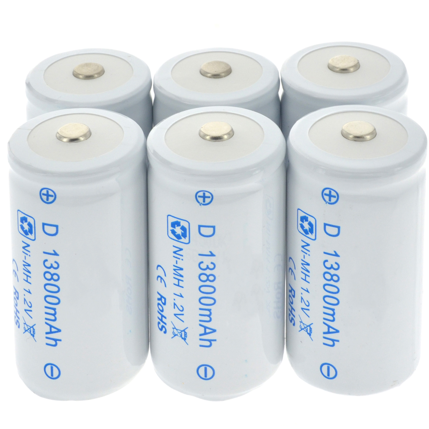 1-8pcs D Size Battery D-Type 13800mAh 1.2V Ni-MH Rechargeable Batteries