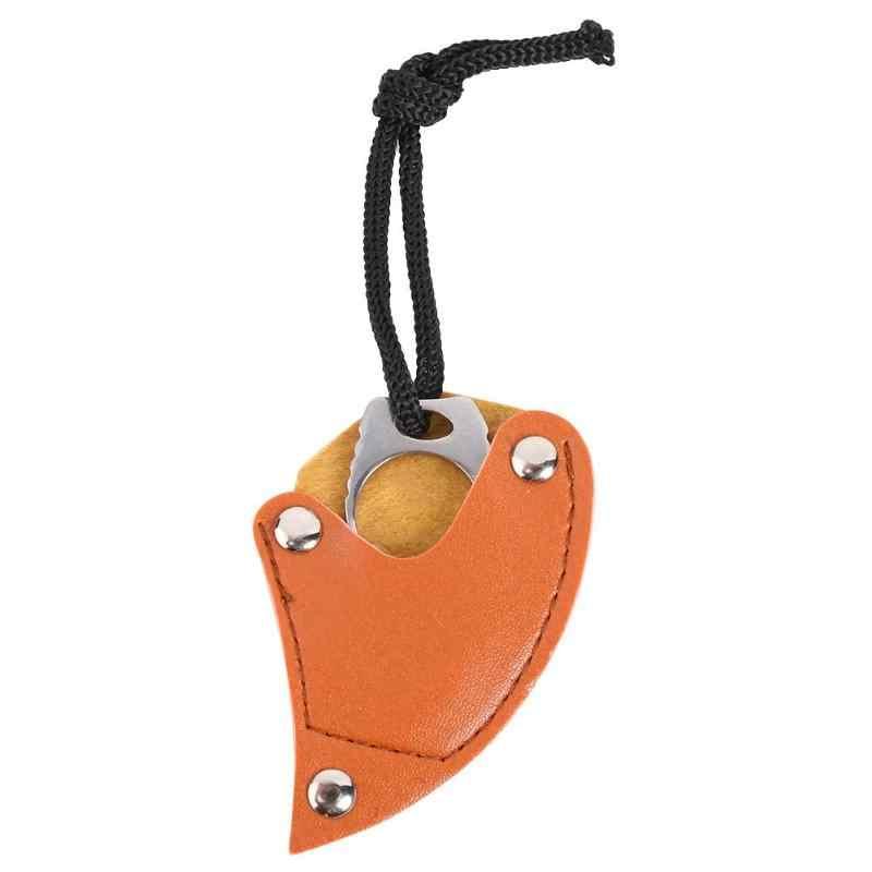 Mini MC กระเป๋า Karambit หนัง sheath ตัดแบบพกพา claw มีดเครื่องมือกลางแจ้งค่าย Survive กล่องแพคเกจเปิดเปิด