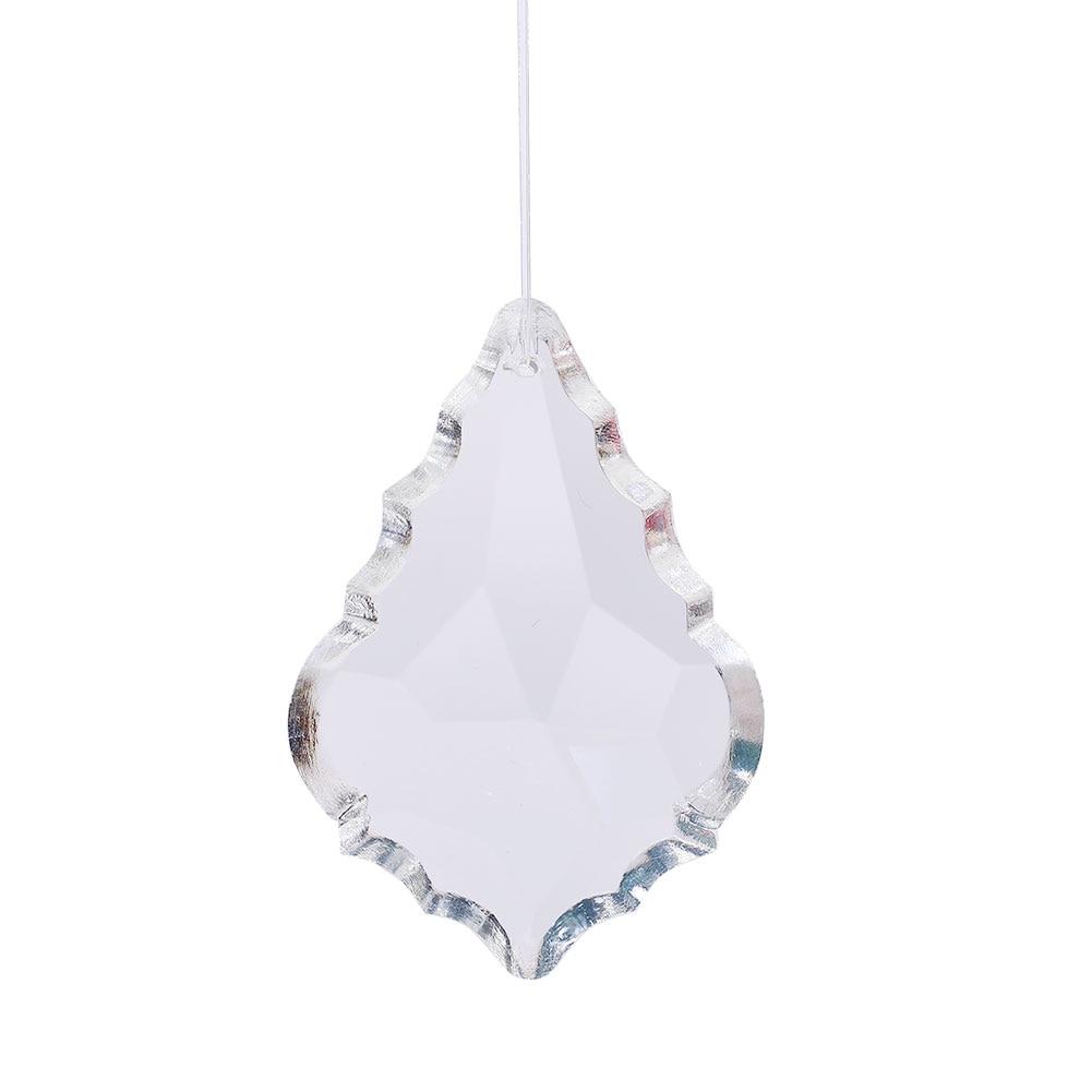 63,0 мм прозрачный кленовый кристалл в форме листика Призма Витражная лампа подвесной Декор